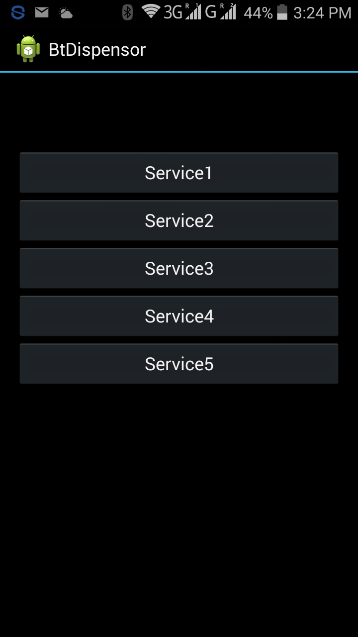 Service screen