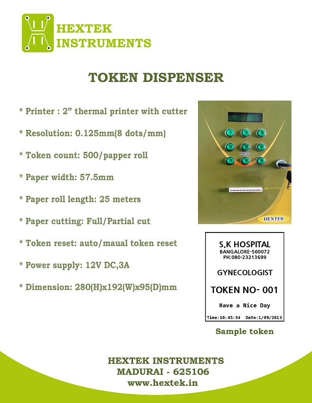 Token Dispenser - Multi Service